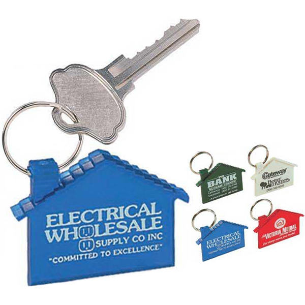 Softee (r) Homestyle (r) - Unbreakable Vinyl House Shape Key Tag With Steel Split Ring Photo