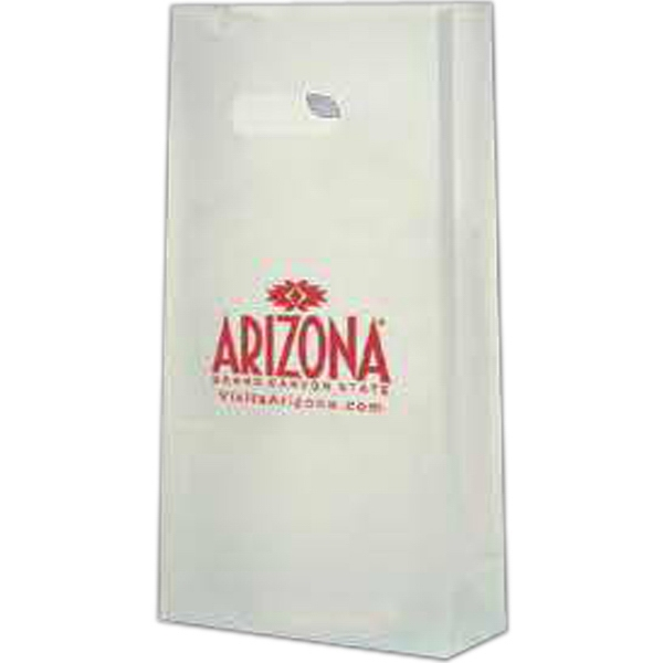 "7.75"" X 15"" - Clear Frosted, 4.0 Mil. Gauge, Die Cut Tote Bag Photo"