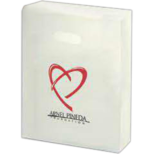"10"" X 13"" - Clear Frosted, 4.0 Mil. Gauge, Die Cut Tote Bag Photo"