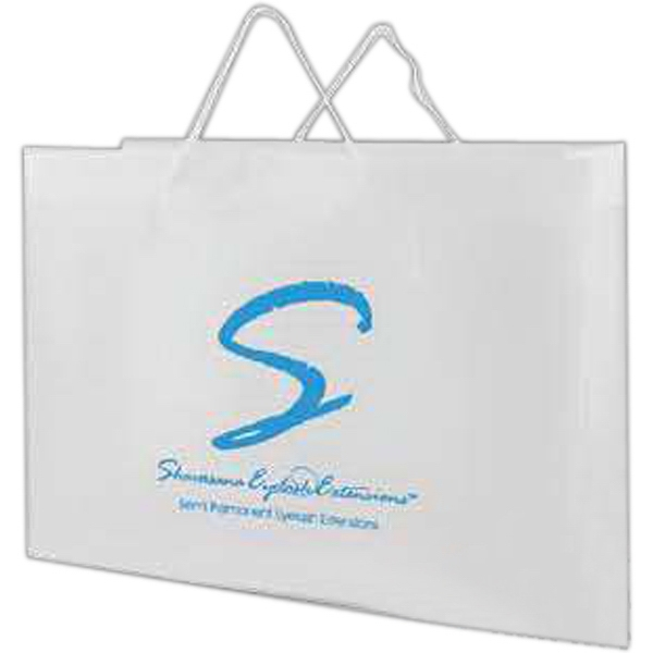 "16"" X 12"" - Frosted Clear Eurotote Bag With Plastic Reinforced Turntop Photo"