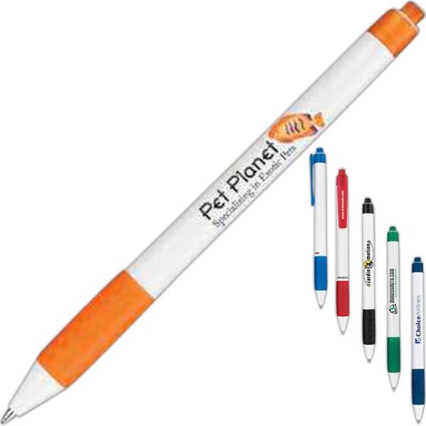 Groove White Barrel Ball Pen