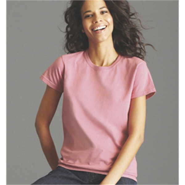 Embroidered ladies' cotton t-shirt