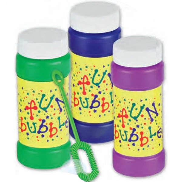 Fun Bubbles - 4 Oz - Bottle Of Bubbles With Stock Design. Imprinted Photo