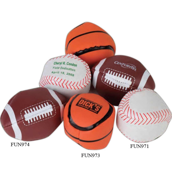 "Football - Sport Leather-like Vinyl 2"" Kickball. Imprinted Photo"