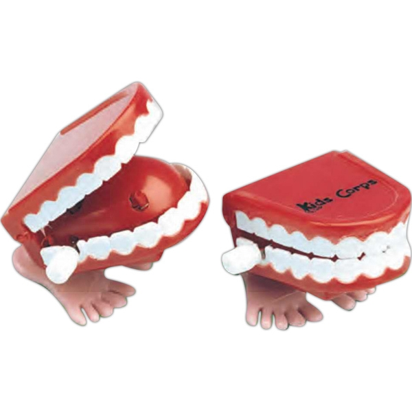 Wind-up Walking Chattering Teeth. Imprinted Photo
