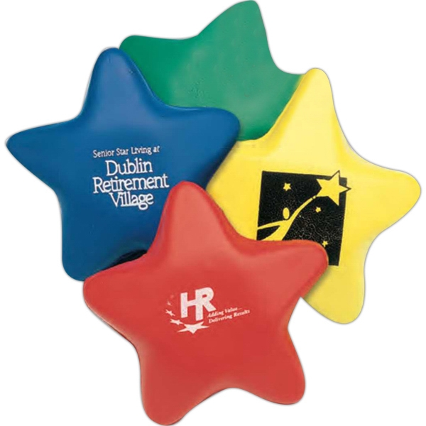 "3"" Foam Star Shaped Stress Reliever. Imprinted Photo"