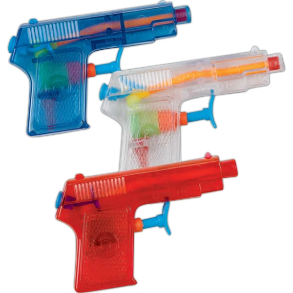 "4"" Mini Pistol Water Gun. Imprinted Photo"