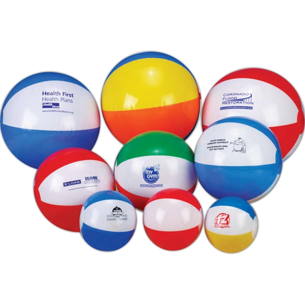 "12"" - Beach Ball. Imprinted Photo"