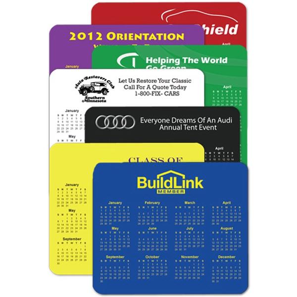 Customized Horizontal Calendar Mouse Pad