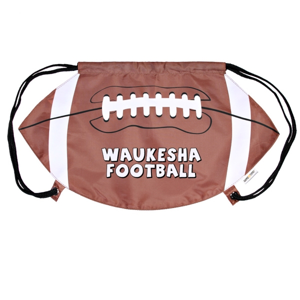 Gametime! (tm) - Cinch Top Bag/backpack, Football Photo