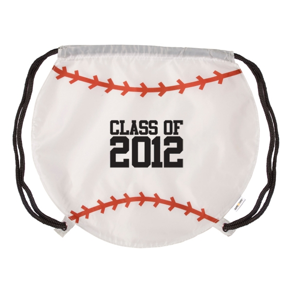 Gametime! (tm) - Classic Drawstring Cinch Bag With A Sport Twist, Baseball Photo