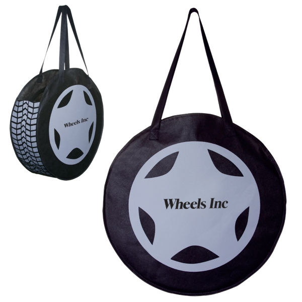 Rallytotes (tm) - Eco Friendly Tote Bag Made Of Durable Non-woven Poly Looks Like A Tire Photo