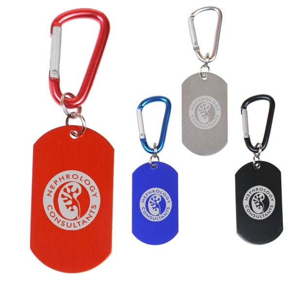 Aluminum Dog Tag On Carabiner Photo