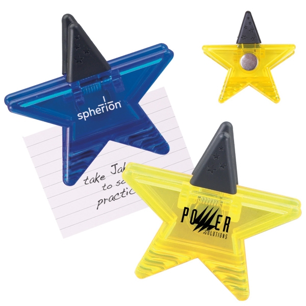 Star Shaped Magnetic Memo Clip Photo