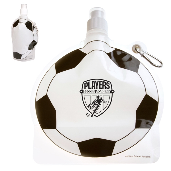 Hydropouch! (tm) - 24 Oz Soccer Ball Collapsible Water Bottle Photo