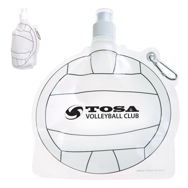 Hydropouch! (tm) - 24 Oz Volleyball Collapsible Water Bottle Photo