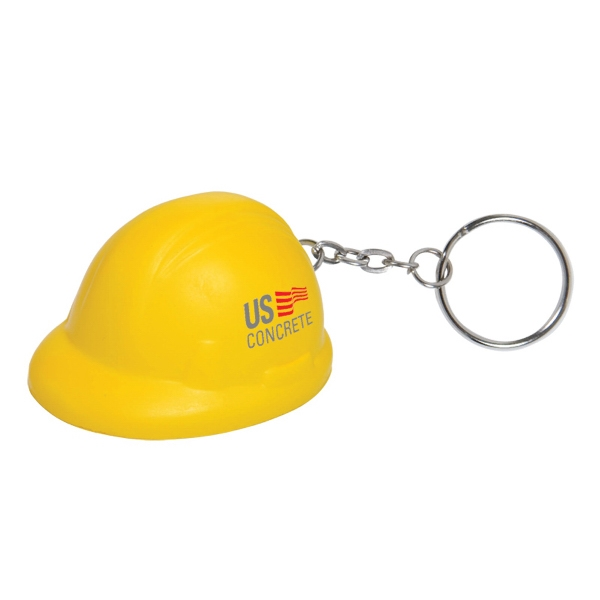 Handcrafted Polyurethane Hard Hat Stress Ball Key Chain Photo