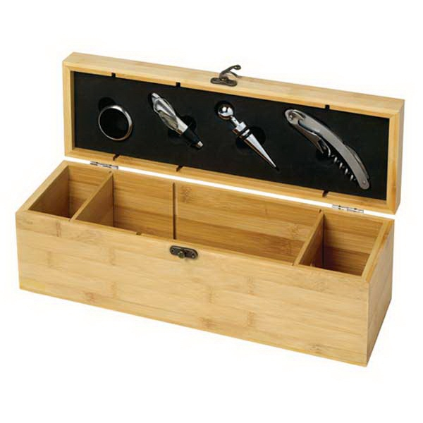 Homestyles (tm) - 4 Piece Bamboo Wine Set Photo