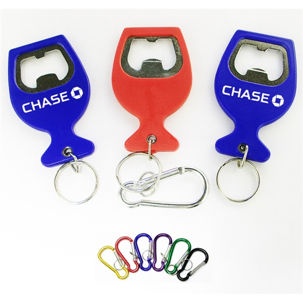 Wine cup shape bottle opener  key chain
