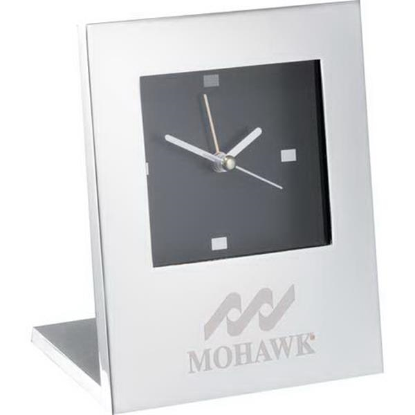 Radiance - Silver Plated Desktop Clock With Alarm And Second Hand Photo