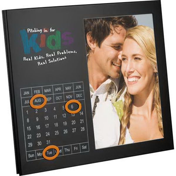 "Magnetic Photo Frame With Perpetual Calendar, Displays A 5"" X 7"" Photo"