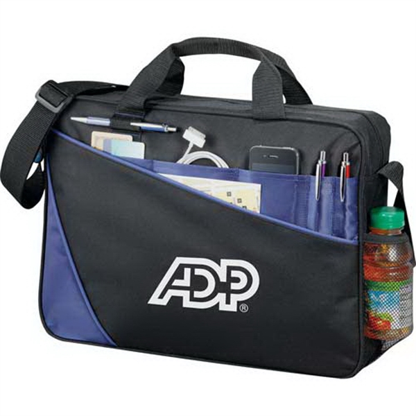 "Angle - Computer Briefcase Made Of 600d Polycanvas And Ripstop Nylon. Holds 15"" Laptop Photo"