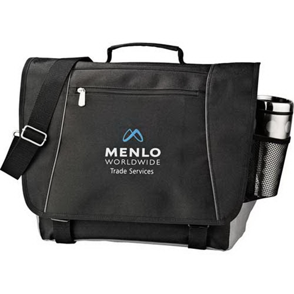 "Verona - 600 Denier Polycanvas Messenger Bag/laptop Sleeve. Black, Holds Most 15"" Laptops Photo"