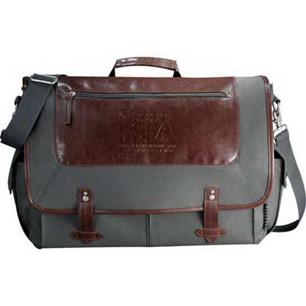"Field & Co. - Computer Messenger Bag Made Of Cotton Canvas. Holds Most 15"" Laptops Photo"