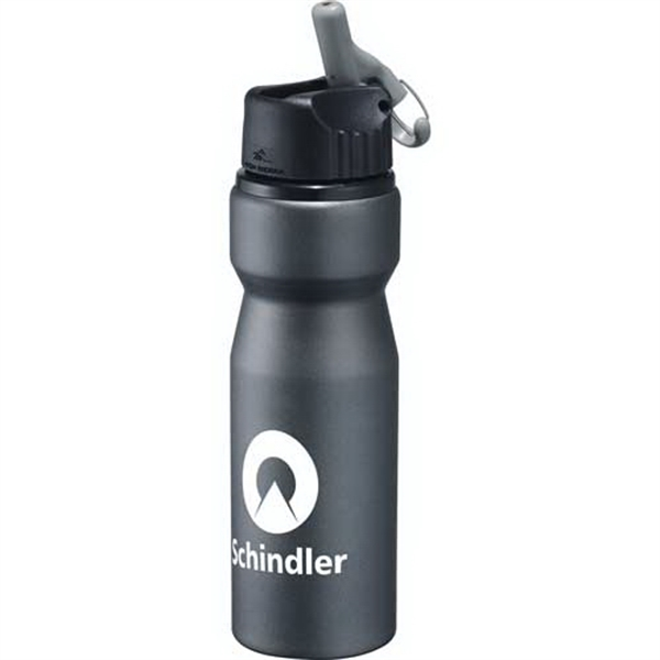 High Sierra (r) - 24 Oz Aluminum Bottle. Flip Top Lid With Straw And Attached Carabiner Photo