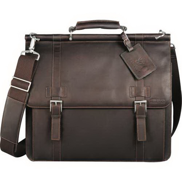 Kenneth Cole (r) - Computer Messenger Bag Made Of Columbian Leather Photo