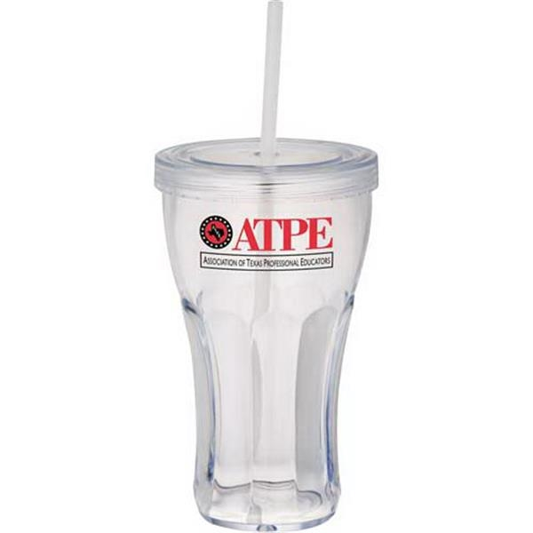 Fountain Soda Tumbler With Straw Photo