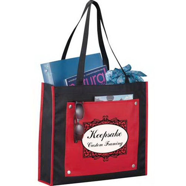 Snapshot - Tote Bag Made Of 600 Denier Polycanvas With Open Front Pocket Photo