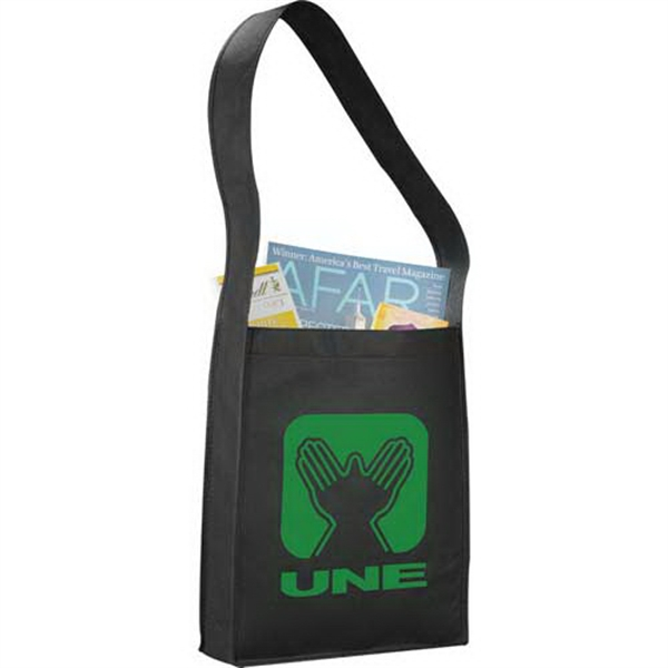 "Cross Town - Non-woven Polypropylene Tote Bag With Single 33"" Handle Photo"