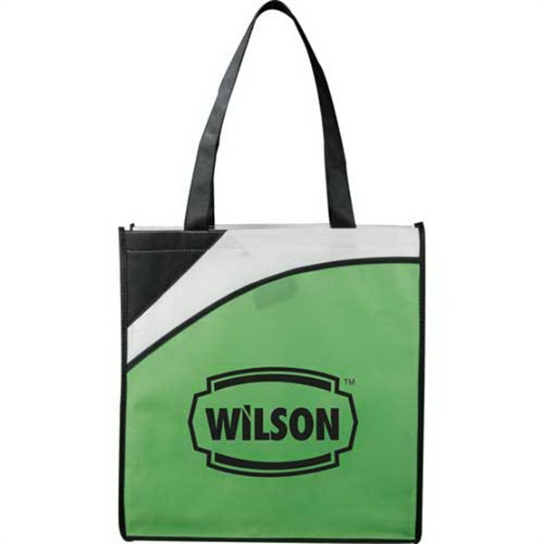 Runway Conference - Tote Bag Made Of 80-gram Non-woven Polypropylene. Open Main Compartment Photo
