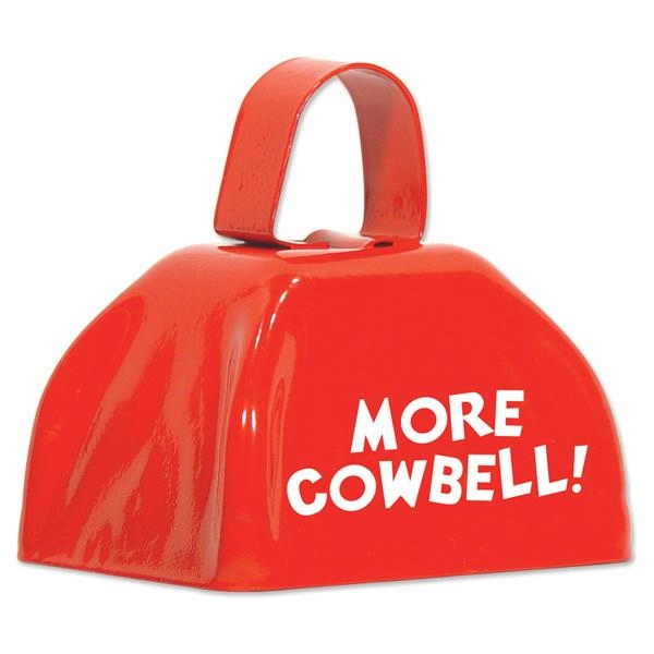 Three Inch Red Cowbell Photo