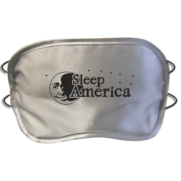 Silver Satin Sleep Mask Photo