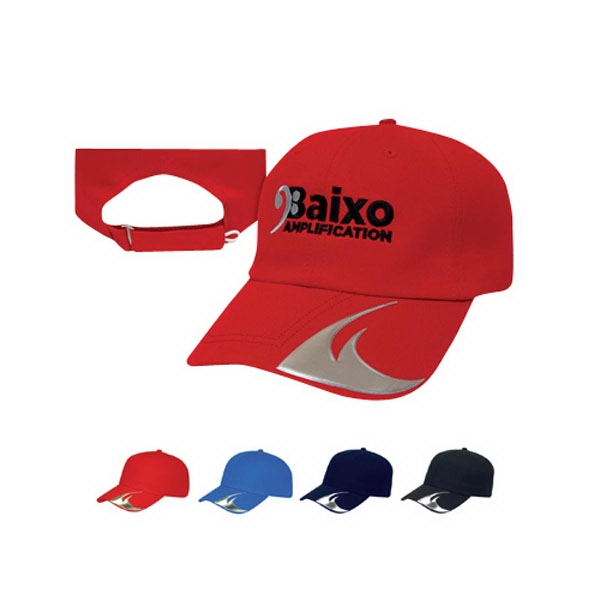 Classic Series - Medium Profile Six Panel Unstructured Liquid Metal Wave Cap. Closeout Photo