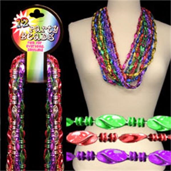 Shell Bead Mardi Gras Necklaces, Blank Photo