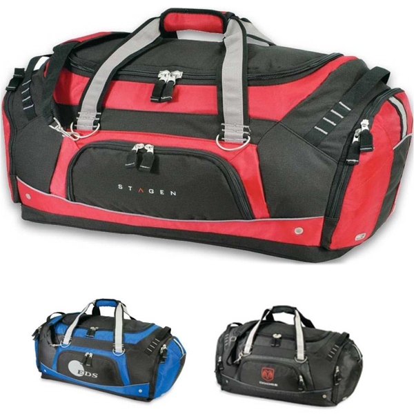 Competition - Spacious And Rugged Duffel Bag With Zippered Front And Side Pockets Photo
