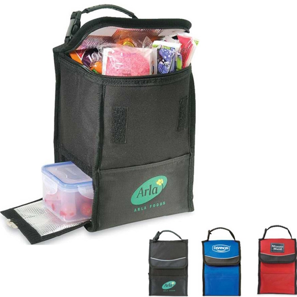 Kiwi - Dual Compartment Lunch Cooler With Expandable Zipper Closure Top Photo