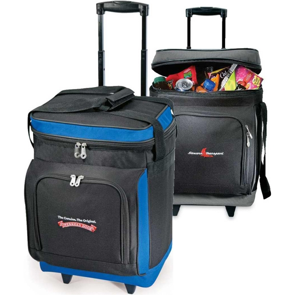 Everest Plus - Insulated, 30 Can Rolling Cooler Bag With Retractable Lockout Pull Handle System Photo