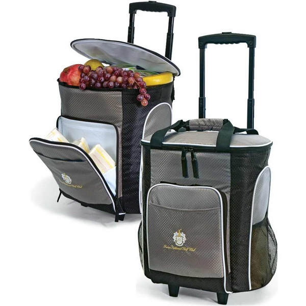 Rocky - Insulated 30 Can Rolling Cooler Bag With Retractable Lockout Pull Handle And Wheels Photo