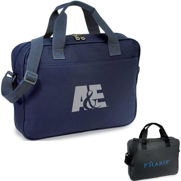 Delegate - Briefcase With Zippered Compartment, I.d. Window And Shoulder Strap Photo