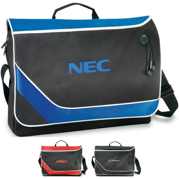 Comet - Stylish Messenger Bag With Velcro Flap Closure. Closeout Photo