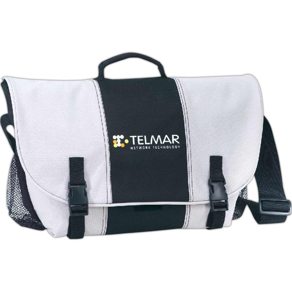 Roomy Messenger Bag With Velcro, Snap Closures And Adjustable Shoulder Strap Photo