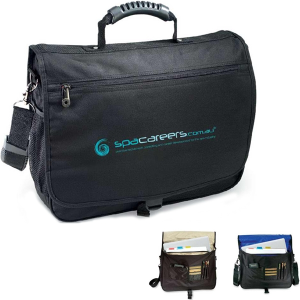 Courier - 600d Polyester Briefcase With Rubber Tough-grip Carry Handle Photo