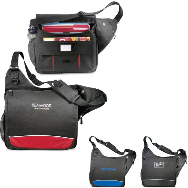 Zone - Messenger Bag With Padded Laptop Pocket. Closeout! Photo