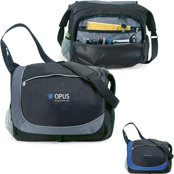 "Carrier - Messenger Bag Made Of 600 And 1680 Denier Polyester. Holds A 17"" Laptop Photo"
