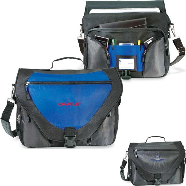 Synergy - Slim And Stylish Messenger Brief With Laptop Pocket And I.d. Card Window. Closeout! Photo