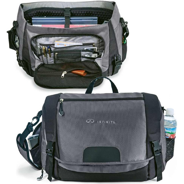 "Conqueror - Messenger Bag Made Of 1680 And 600 Denier Polyester. Holds A 17"" Laptop Photo"
